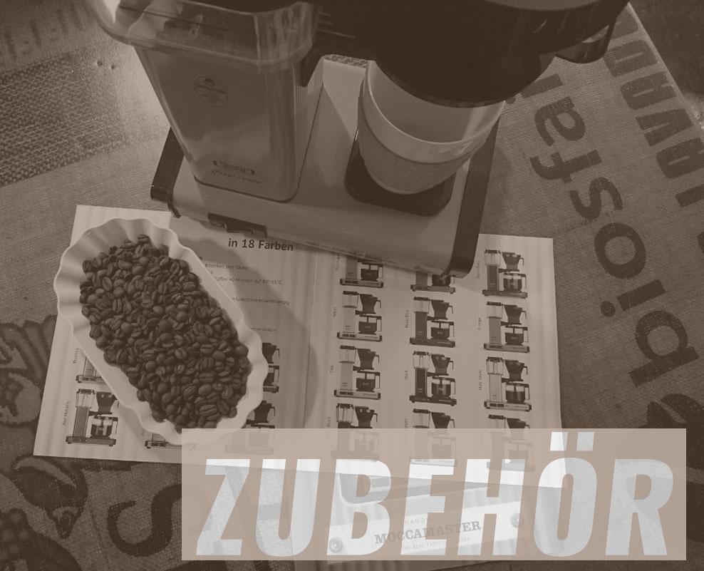 Kaffeemaschine Moccamaster mit Schriftzug Zubehör