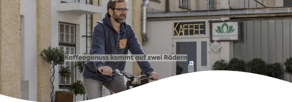 Radmodellregion Website Kaffeeröster